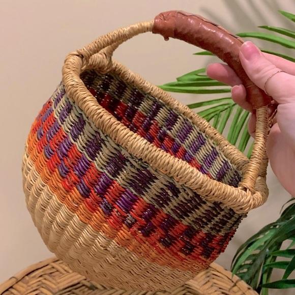Handwoven Ghana Bolga Small Market Basket